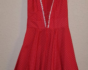 Vintage Partners Please Red with polka dots square dance dress size 10 Beautiful condition