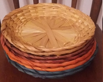 antique wicker paper plate holders
