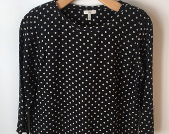 Joie Black Polka-dotted Shirt