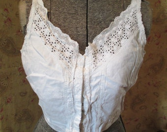 Antique EdwardianLace Eyelet Lingerie Camisole