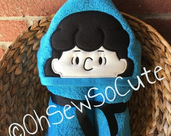 SALE! Lucy, Peanut Girl Hooded Bath Towel, Beach Towel, Pool Towel, Other Characters Available