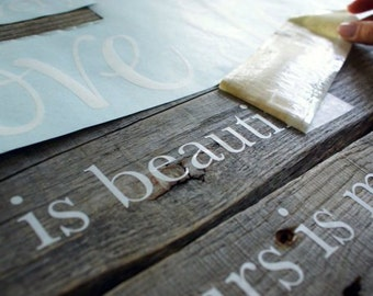 Vinyl Wording Cut To Your Requirements - Over 50 Colours To Choose From - 100's Of Fonts Available - Vinyl, Lettering, Wording, Colours
