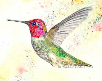 Anna's Hummingbird Spirit Art Print