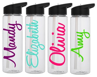 Personalized Water Bottle, Personalized Tumbler, Monogram Tumbler, Gift for Her, Mothers Day Gift, Graduation Gift, Glitter Water Bottle