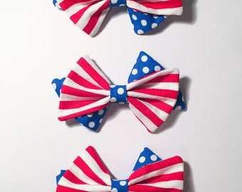 Red White and Blue Hair Bows!