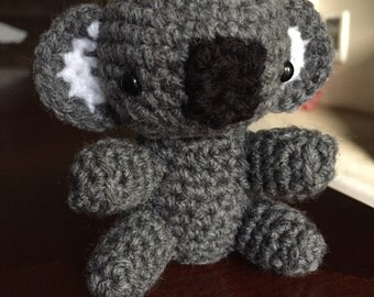 Amigurumi Koala Bear, Crochet Koala, Handmade Stuffed Animal, Koala Plushie, Crochet Bear