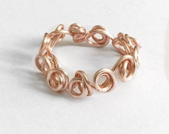 Rose Gold Plated Rose Band