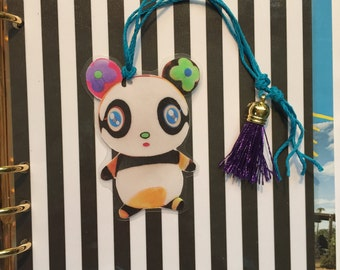 Colorful Bear Bookmark with Silk Tassel