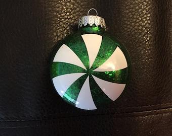 Green Peppermint Ornaments