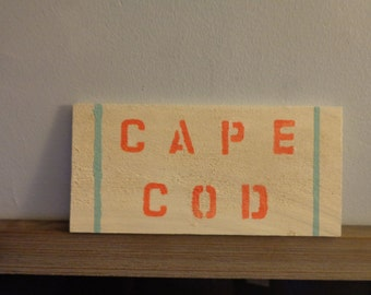 Wooden Cape Cod Sign
