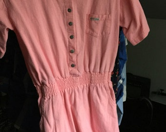 Vintage Pink Action Gear Button-Down Dress