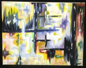 Abstract Bright Colors (16x20)