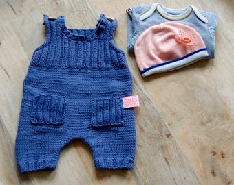 Hand Knit Newborn Jumpsuit