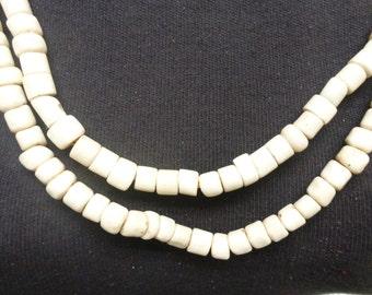 Glass beads, White glass beads