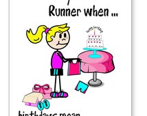 Birthday Card for Runners