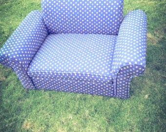 Custom Dog Couch (Blue Dog Paw)
