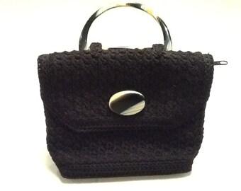 Chunky Knit Black Bag