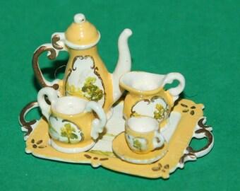 Vintage Dolls House Hand Painted Tea Set Ref KM324