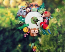 DIY kit - Forest Party Clock (No cutting needed).