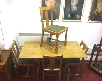Mid century 1950's 1960's kitchen table and 4 chairs