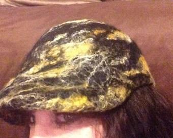 Hand felted ball cap