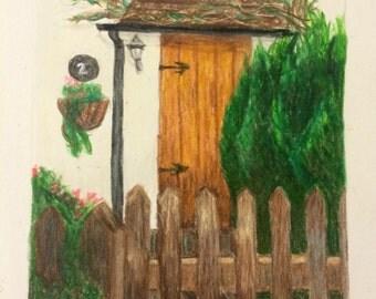 Custom Drawing - Door to your Home