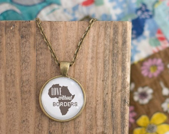 Love Without Borders - Africa Adoption {necklace}