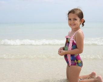 Hearts Swimsuit little girl aniina