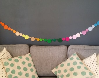 Rainbow Love Bubbles Felt Garland