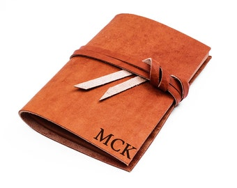 Monogrammed leather journal - custom journal - personalized journal - gift journal - monogrammed journal