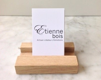 Card holder made of solid oak by Etienne bois