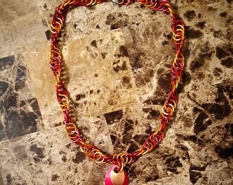 Autumn Colors DNA Weave Necklace