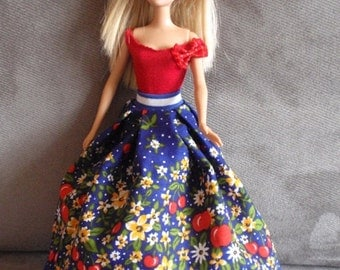 Handmade clothes for Barbie dolls - 4 outfits