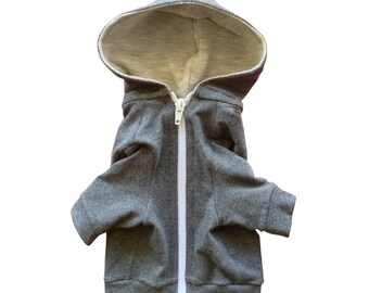 Cat Hoodie Cat Clothes Made of Stretch Cotton Cat Clothing Cat Jacket Cat Outfit in Multiple Sizes ( L, M, S ) or Custom Order