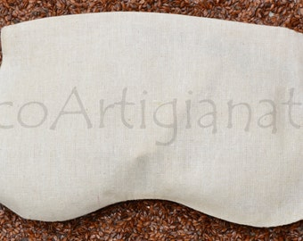 Relaxing Eye Mask Washable Pillowcase, Organic Flax Seeds