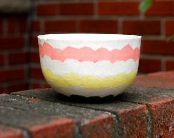 Ceramic Soup Bowl- White, Yellow, Pink, Blue