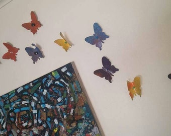 Upcycled Vinyl Butterflies