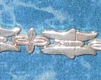 Vintage Taxco sterling butterfly bracelet