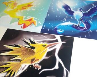Legendary Pokemon Prints