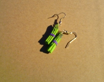 Asparagus bundle dangle earrings