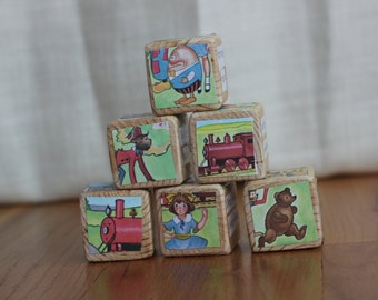 6 The Little Engine That Could Wooden Blocks