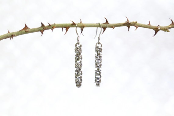 Stainless Steel - Byzantine - Chainmaille Earrings