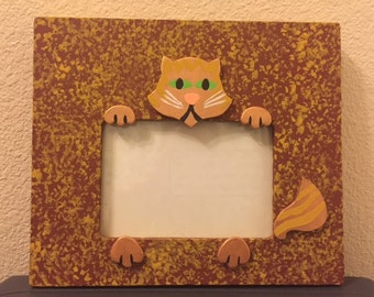 Orange tabby cat picture frame