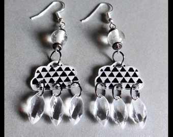 "Earrings ""it rains it wet"""