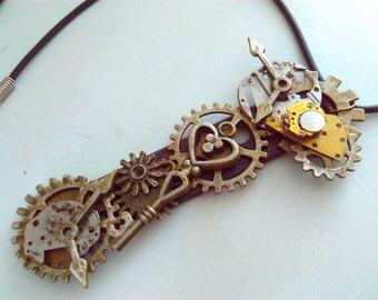 Steampunk pendant, Steampunk necklace, steampunk, handmade steampunk, industrial necklace steampunk jewelry, steampunk jewellery, steampunk