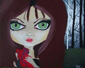 Lowbrow art, lowbrow paintings, Acrylic paintings, big eyed art