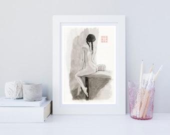 An Artist by the Window - Giclée Art Print