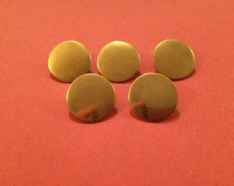 22mm Flat Brass Button (5 Pack) - Re-Enactment, Living History