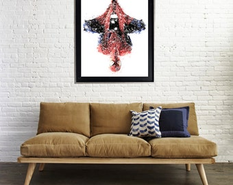 Spiderman Mega Splatter Art Print Matte Print Poster