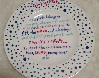 Giving Plate /Sharing Plate
